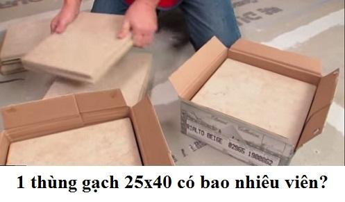 Hỏi đáp: 1 thùng gạch 25×40 bao nhiêu viên? Giá bao nhiêu tiền 1m2?
