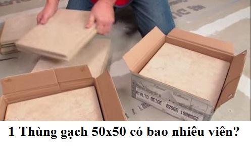 Giải đáp: 1 thùng gạch 50×50 có bao nhiêu viên? Giá bao nhiêu tiền?