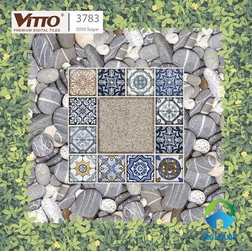Mẫu gạch lát sân giả cỏ Vitto 3783