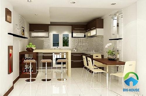 gạch lát nền nhà bếp vitto bóng kiếng đẹp mắt