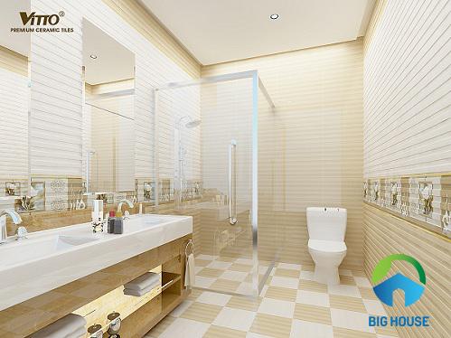 Cách chọn và TOP mẫu gạch lát nền nhà vệ sinh Vitto Đẹp nhất