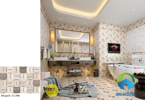 mẫu gạch lát nhà vệ sinh Vitto