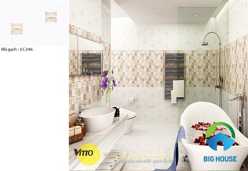 Tư vấn mẫu gạch lát nhà vệ sinh Vitto đẹp