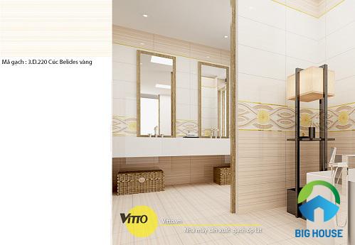 Mẫu gạch lát nền nhà vệ sinh Vitto