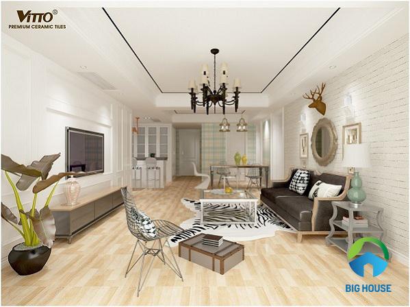Tiêu chí chọn và TOP mẫu gạch lát nền phòng khách Vitto Ấn tượng