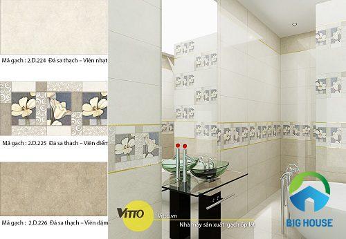Cách chọn gạch ốp nhà vệ sinh Vitto Đẹp – Ấn tượng – Hiệu quả nhất