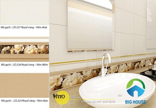 Các mẫu gạch ốp nhà vệ sinh vitto ấn tượng