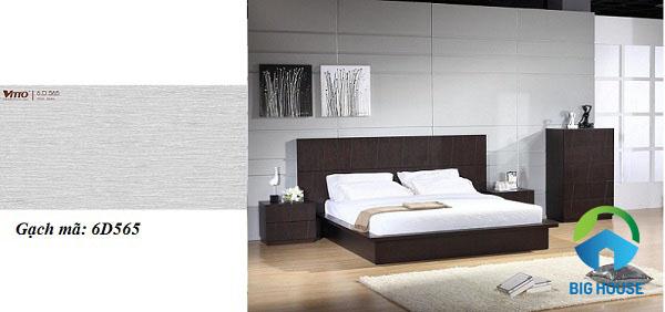 mẫu gạch ốp tường phòng ngủ Vitto