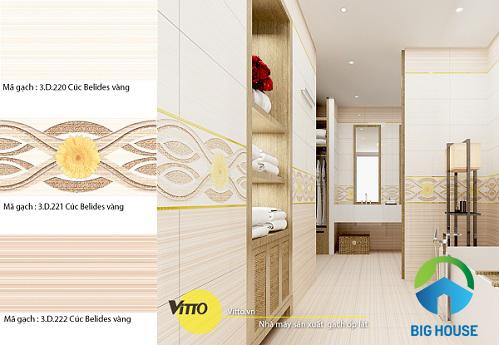 Cách chọn gạch trang trí ốp phòng ngủ vitto