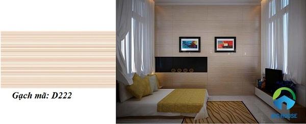 mẫu gạch ốp tường phòng ngủ Vitto lịch sự
