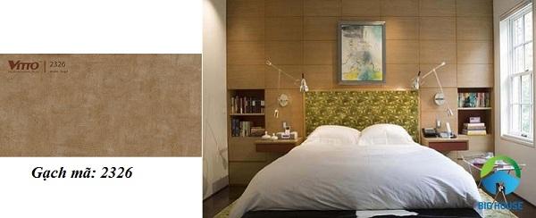 Mã gạch ốp tường phòng ngủ Vitto sang trọng