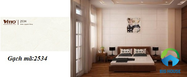 mẫu gạch ốp tường phòng ngủ Vitto đẹp mắt