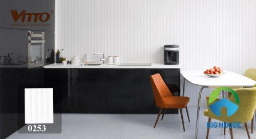Gạch ốp tường bếp màu trắng chất lượng
