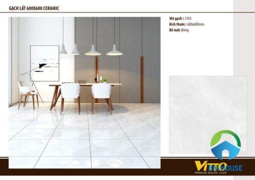 Gạch Vitto 60×60 bóng kiếng: Những mẫu gạch làm nên xu hướng 2019