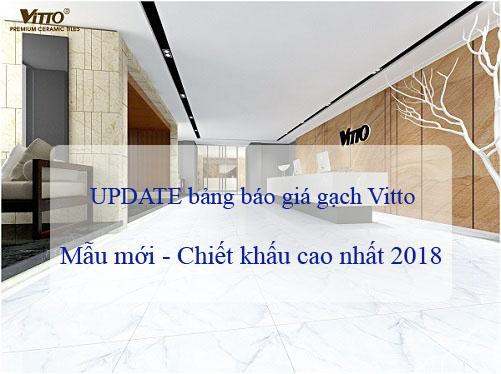 Bảng giá gạch vitto 30×45 UPDATE mẫu mới nhất 2020 Chiết khấu Cao