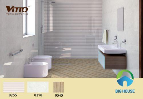 phối cảnh gạch ốp nhà vệ sinh vitto
