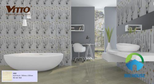 tổng hợp các mẫu phối cảnh gạch vitto 30x30 cho nhà tắm
