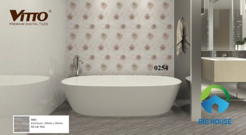 Mẫu phối cảnh gạch vitto 30x30 cho nhà tắm 2054