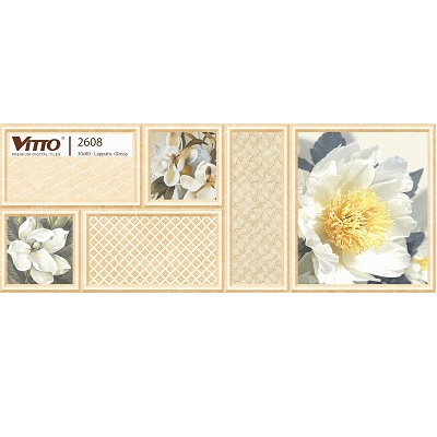 Gạch trang trí Vitto 2608 ốp tường 30×80