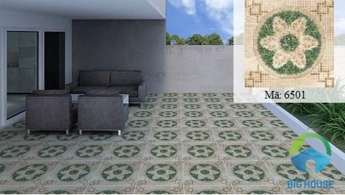 Mẫu gạch lát sân vườn 50x50 định hình giả cỏ bắt mắt