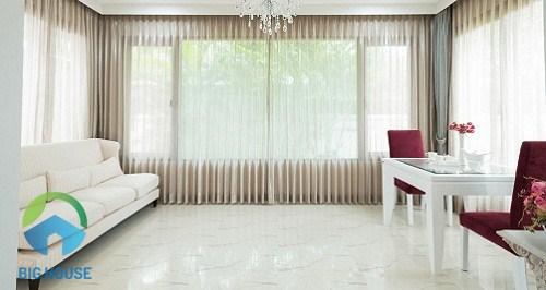 gạch vitto 50x50 trắng nên dùng cho không gian nào