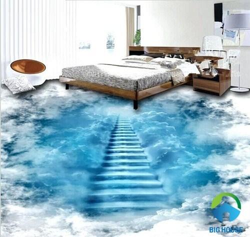 gạch 3d lát nền phòng ngủ có một không hai