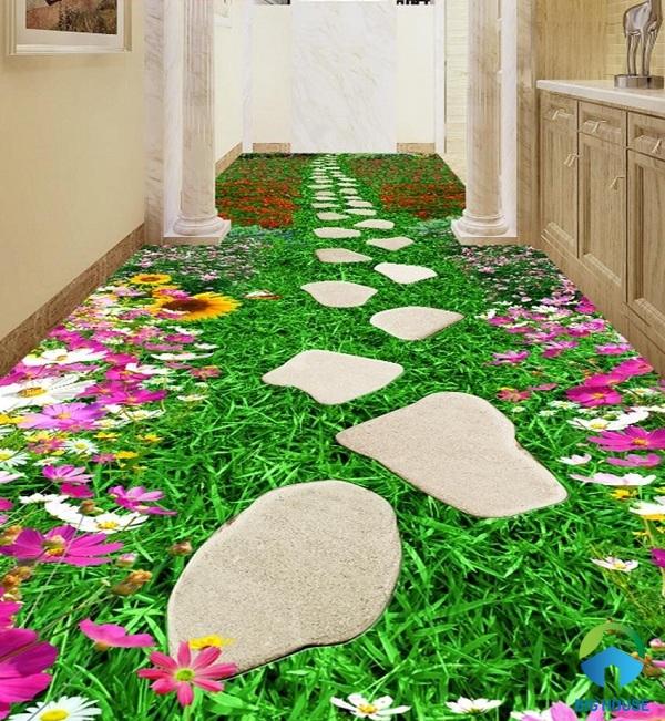 Mẫu gạch giả hoa cỏ tự nhiên