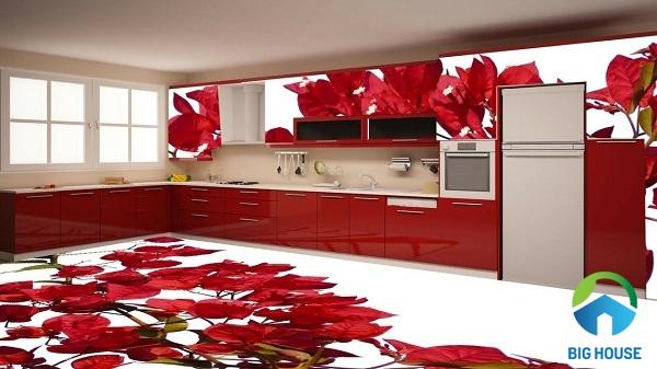 gạch 3d nhà bếp