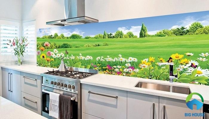TOP mẫu Gạch 3D phòng bếp Đẹp, Ấn tượng, Lạ nhất 2020
