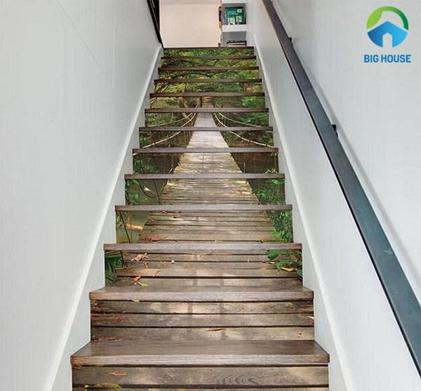 gạch 3d ốp cầu thang 1