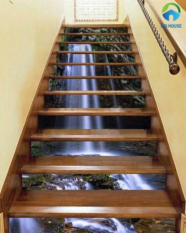 gạch 3d ốp cầu thang 6