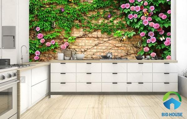 gạch 3d ốp tường bếp đẹp