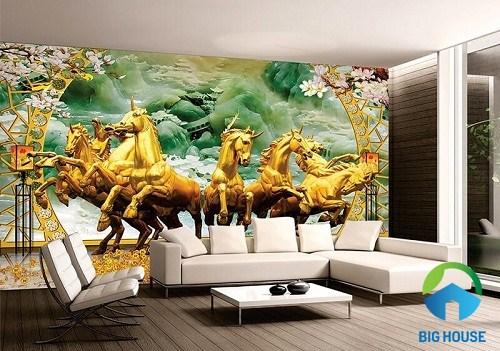 Mã đáo thành công với màu sắc tươi sáng, ấn tượng cho không gian phòng khách