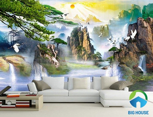 gạch 3d phong cảnh tự nhiên độc đáo