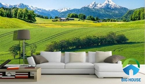 gạch 3d phong cảnh thiên nhiên mở rộng