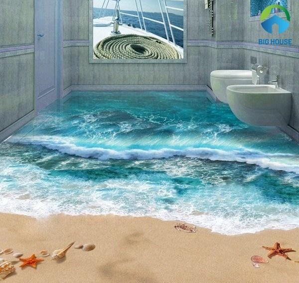 mẫu gạch 3d phòng tắm biển cả
