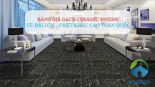 Bảng báo giá gạch ceramic 800×800 Mới nhất kèm phối cảnh Đẹp nhất