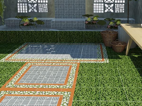 Top mẫu gạch cỏ 40×40 lát sân Đẹp và Cách chọn gạch theo Hãng