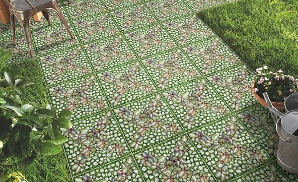 gạch giả cỏ 40x40 lát sân