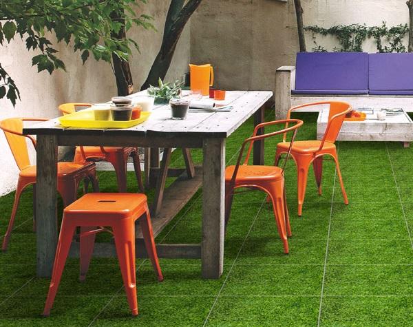 gạch cỏ 40x40 lát sân vườn