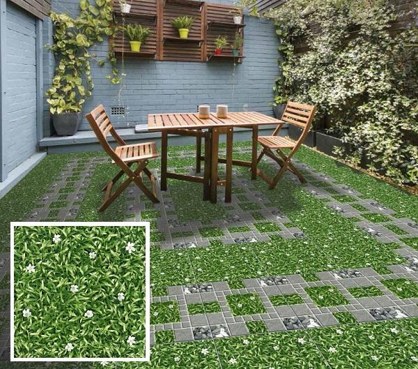 gạch lát giả cỏ 50x50