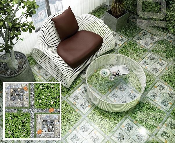gạch cỏ lát sân 50x50
