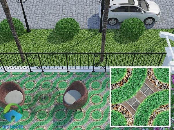 Bạn cũng có thể ứng dụng mẫu gạch Viglacera SV 5521 cho không gian ngoại thất của mình