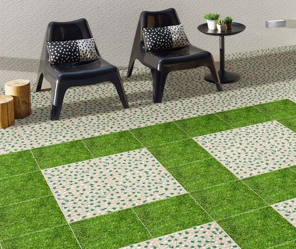 gạch cỏ lát sân thượng đẹp mắt