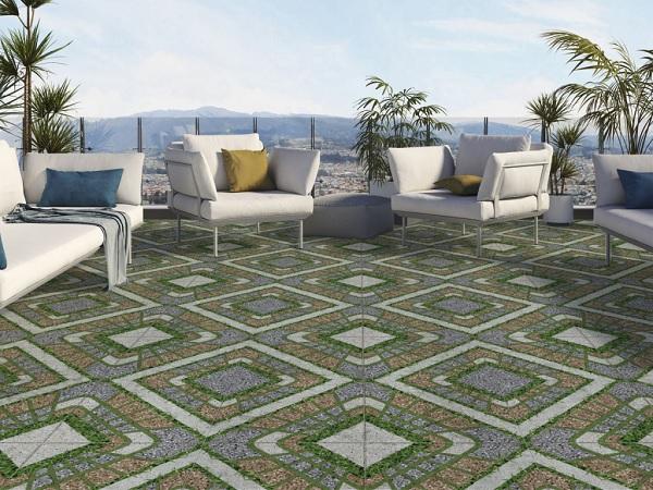 TOP gạch cỏ lát sân thượng Đẹp, Chống nóng HOÀN HẢO 2021