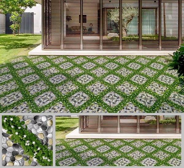 gạch cỏ lát sân vườn sang trọng