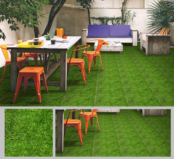 gạch giả cỏ lát sân vườn