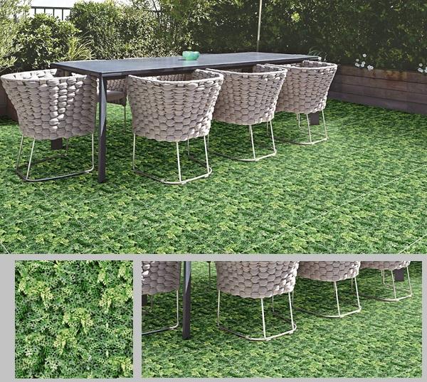 mẫu gạch giả cỏ lát sân vườn
