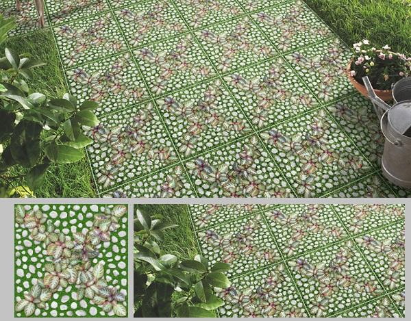 Mẫu gạch lát sân vườn giả cỏ