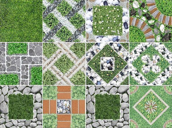 Các mẫu gạch giả cỏ lát sân vườn đa dạng mẫu mã